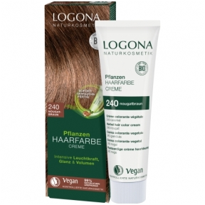 Logona Augaliniai kreminiai plaukų dažai Herbal Hair Color Cream 240 Nougat brown, 150 ml