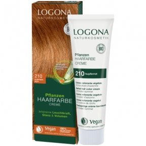 Logona augaliniai kreminiai plaukų dažai Herbal Hair Dye Cream 210 Copper Red, 150 ml